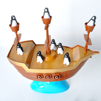 Penguin Pirate Ship Enlighten Blocks Toy Desktop Family Party Fidget Toys For Children Anti Stress Funny