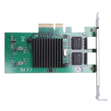 Network Card For For Intel82575 Server Chipset Gigabit Pci-Express Network Card 1000M Pci-E Double Rj45 Port Nic Adapter network card pci express pcie x4 four rj45 gigabit ports server adapter nic i350 t4