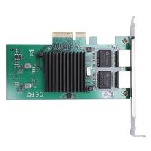 Network Card For For Intel82575 Server Chipset Gigabit Pci-Express Network Card 1000M Pci-E Double Rj45 Port Nic Adapter g1 sniper b5 board b85 chipset lga 1150 ddr3 pci e 3 0 usb hdmi ps 2 rj45 optical atx