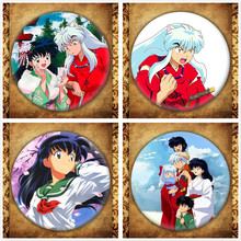 Japanese Anime Inuyasha Display Badge Fashion Cartoon Figure Kikyo Kagome Brooches Pin Jewelry Accessories Gift bathroom wall mounted stainless steel adhesive toilet paper holders toilet paper holders rack holder bathroom towel holder paper