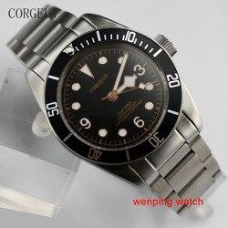 41mm Corgeut black sterial dial orange marks black Bezel sapphire glass bracelet Automatic Men's watch men E2411