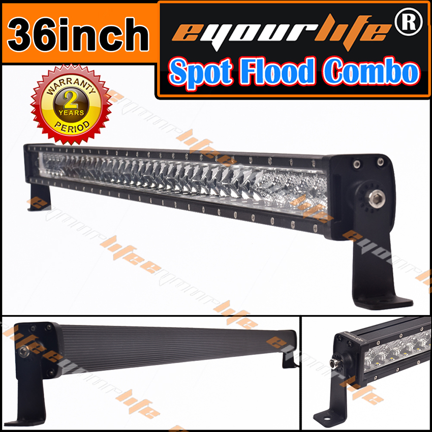 Eyourlife 36/38INCH 195W LED LIGHT Work Driving led light lamp bar Offroad SUV SPOT FLOOD COMBO 12V 24V Waterproof novotech pattern 370068