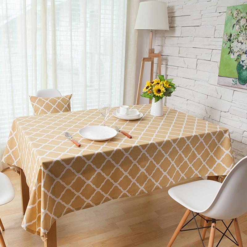 Algodón de lino mantel de mesa paño de mesa de té a cuadros escena - Textiles para el hogar