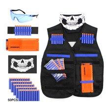 Tactical Vest Kit für Nerf Guns N-Strike Elite-Serie, einschließlich Weste, taktische Maske, Schutzglas, Quick Reload Clip, Handgelenk Band