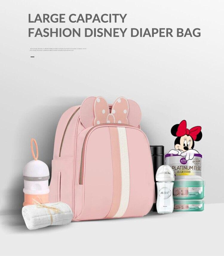Disney Baby Diaper Bag Fashion Mummy Maternity USB Heating Nappy Bag Travel Backpack Designer Stroller Nursing Bag