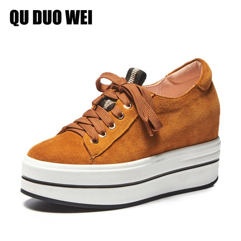 2018 New High Quality Spring Genuine Leather Women Casual Sneakers Outdoor Flat Platform Shoes Lace Up Ladies Fashion Creepers brand new spring shoes woman genuine leather fashion lace up women flat shoes casual platform shoes women