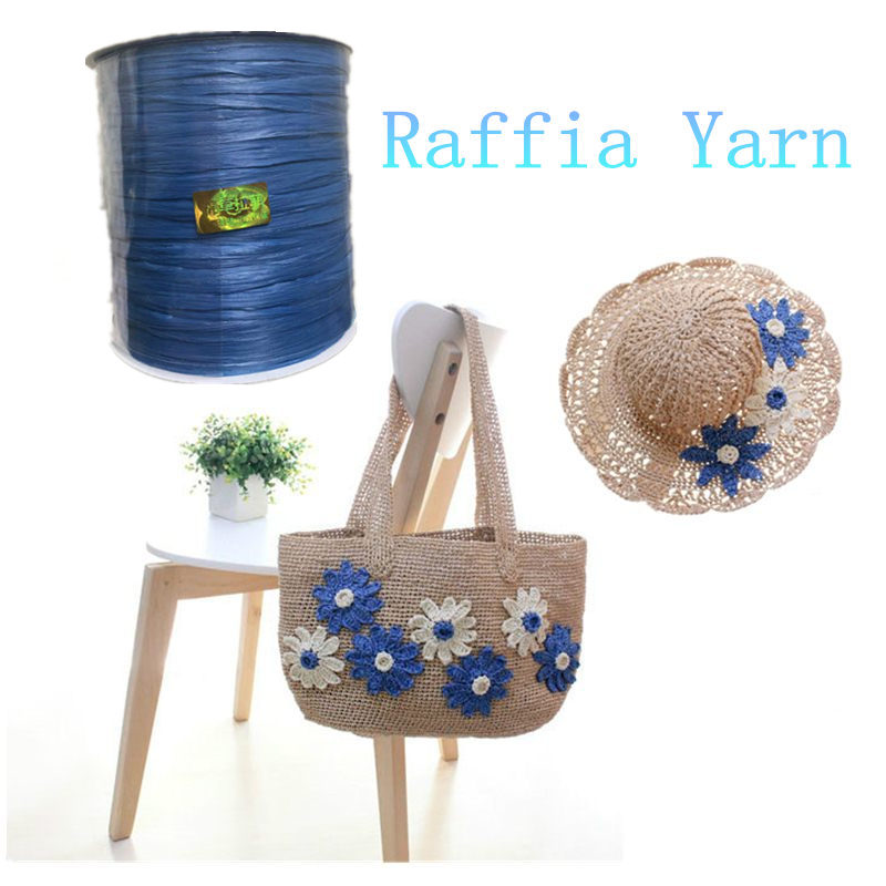Brave 2018 Raffia Straw Yarn 250 M/roll Organic Straw Yarn For Hand Crochet Summer Hats Bags Diy Gifts Flowers Wrapping Material Sup.