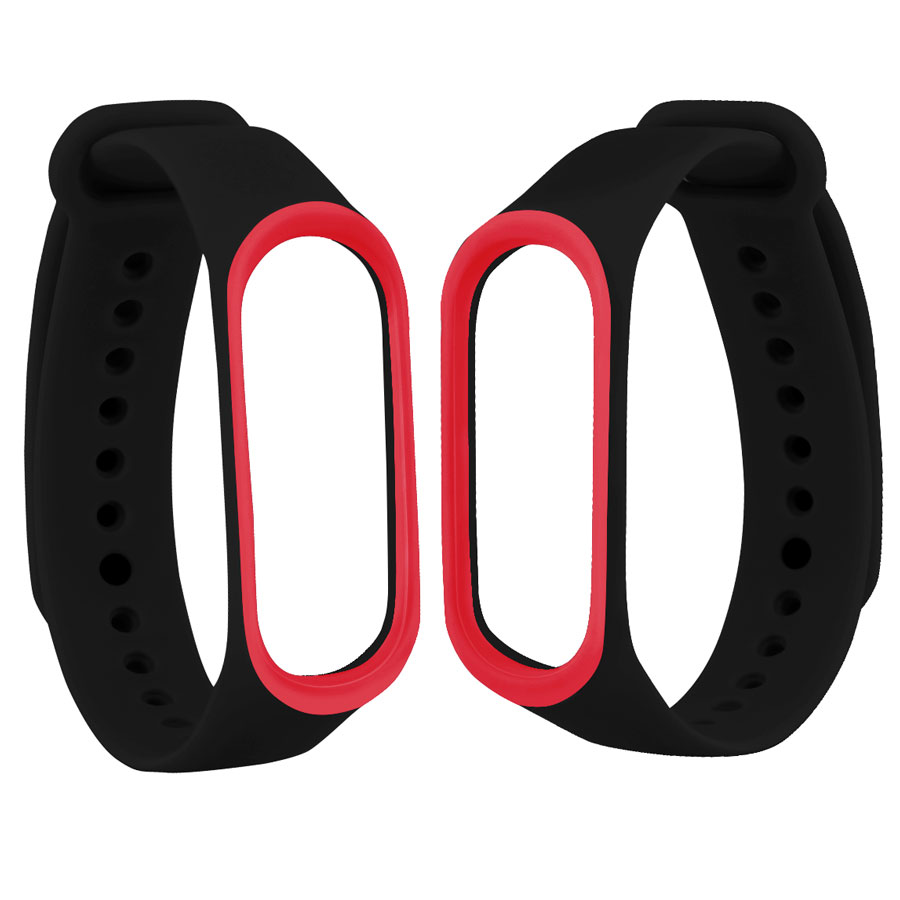 For Mi Band 3 4 Strap For Xiaomi Mi Band 3/4 Bracelet Replacement Band Silicone Wriststrap Miband 3 4 Accessories Double Color