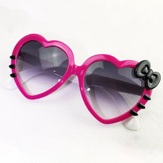 Sunglasses Kids Brand Designer Hello Kitty Fashion Flip Up Sunglasses For Children Boys Girls Infant Goggles UV400