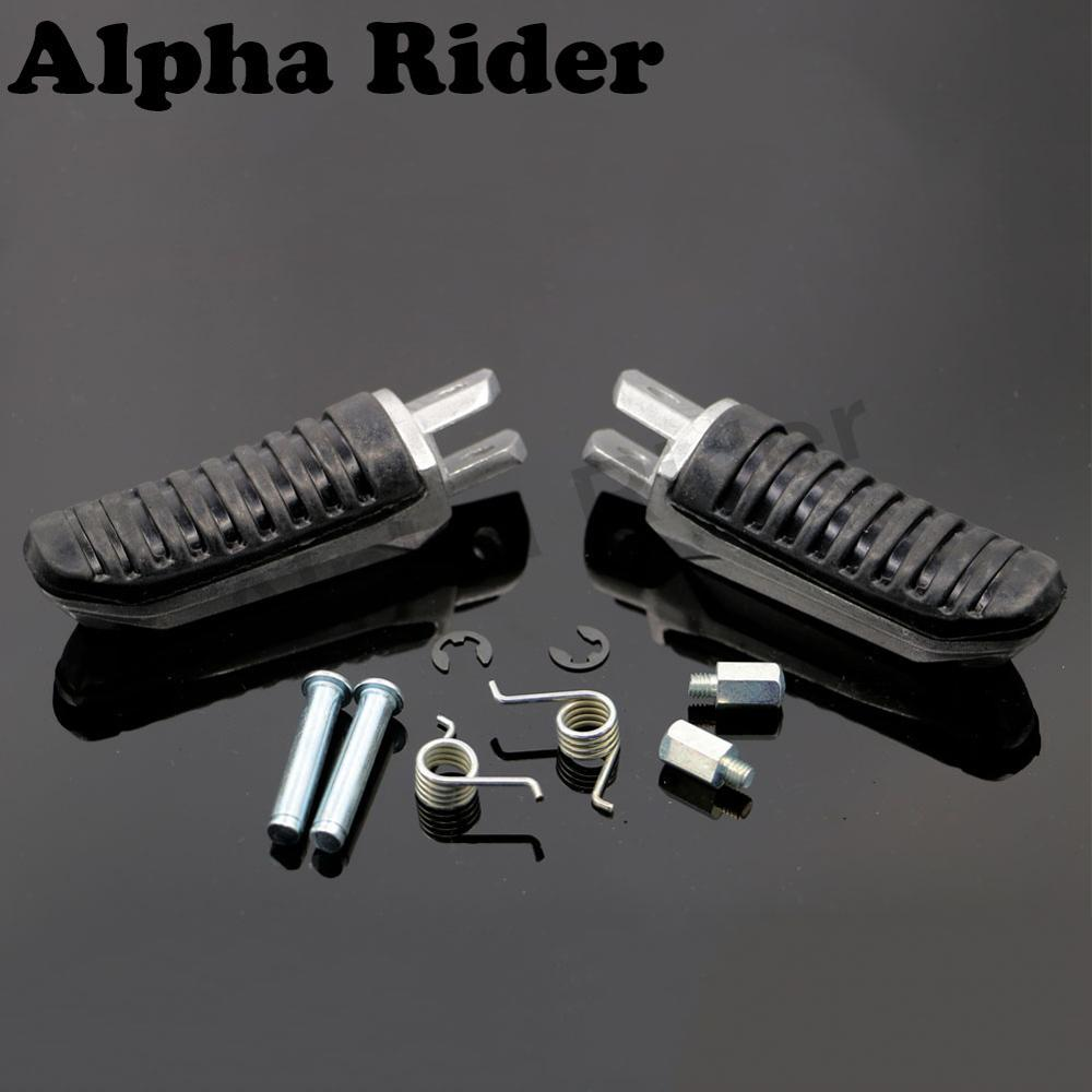 Left/Right Motorcycle Front Footrest Driving Foot Pegs Feet Pedals For Suzuki GSX650 08-12 GS-X GSX 650 2008-2012 2011 2010 2009