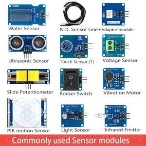 Image 3 - Rich uno r3 atmega328p 개발 보드 센서 모듈 io 쉴드 mp3 ds1307 rtc 온도 센서가 장착 된 arduino 용 스타터 키트