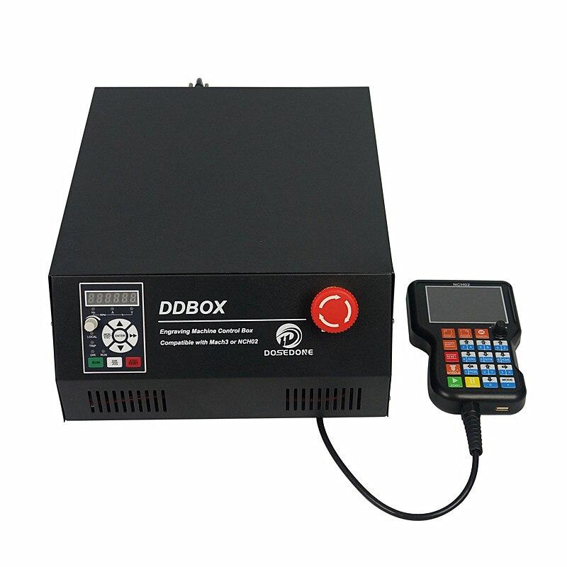 Independente Caixa De Controle CNC Eixo 4 Off Line Controlador Volante para CNC Router Atualização DIY