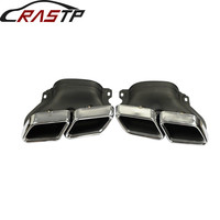 RASTP Auto Car Stainless Steel Exhaust Muffler Tips for Benz 14 C Class W205 With Logo RS CR8110