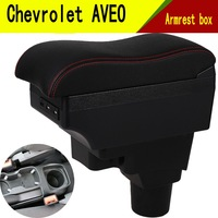 For Chevrolet Aveo Sonic Lova T250 T300 armrest box central Store content Storage box cup holder car styling accessories