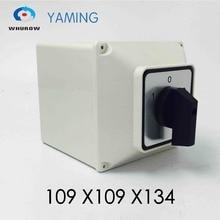Переключатель ВКЛ./ВЫКЛ., 3 позиционный переключатель 63 А, 3 Полюсные поворотные переключатели основной камеры с водонепроницаемой коробкой YMW26 63/3 м