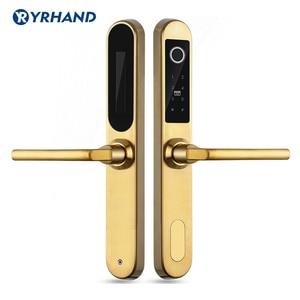Image 3 - Electronic Fingerprint Lock Digital  Door Lock in 304 Stainless steel for Aluminum Glass Door with Euro Mortise 3585/4585