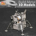 NEW  3D puzzle DIY metalic spacecraft jigsaw To explore the moon landing craft metal world Lunar Module model laser cutting