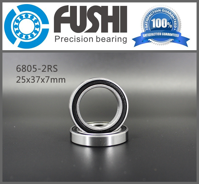 6805 2RS Bearing 25*37*7 mm ( 10 PCS ) ABEC-1 Metric Thin Section 61805RS 6805 RS Ball Bearings 6805RS free shipping 6805 2rs bearing 25 37 7 mm token shimano fsa raceface bb70 shaft bearing repair parts full beads 6805 rs