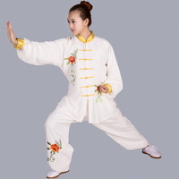 Long Sleeve Traditional Tang Suit sets Chinese Kung Fu Tai Chi Uniform Spring Autumn Shirt Pants for Men Women