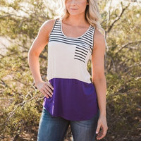 2017 Women Summer Spring Sleeveless knitted Patchwork Stripe Pocket O Neck T-shirt Casual Tops Tee Shirt