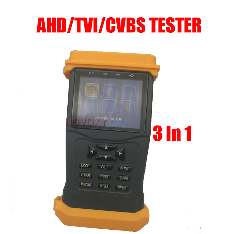 Frees shiping New Product Pro Security AHD Hybrid CCTV Tester,3.5 TFT CCTV Camera Video PTZ Test Tester High-Quality Brand NEW 3 5inch tft lcd cctv tester st3000s st4000s professional security installation tool surveillance camera video test ptz tester