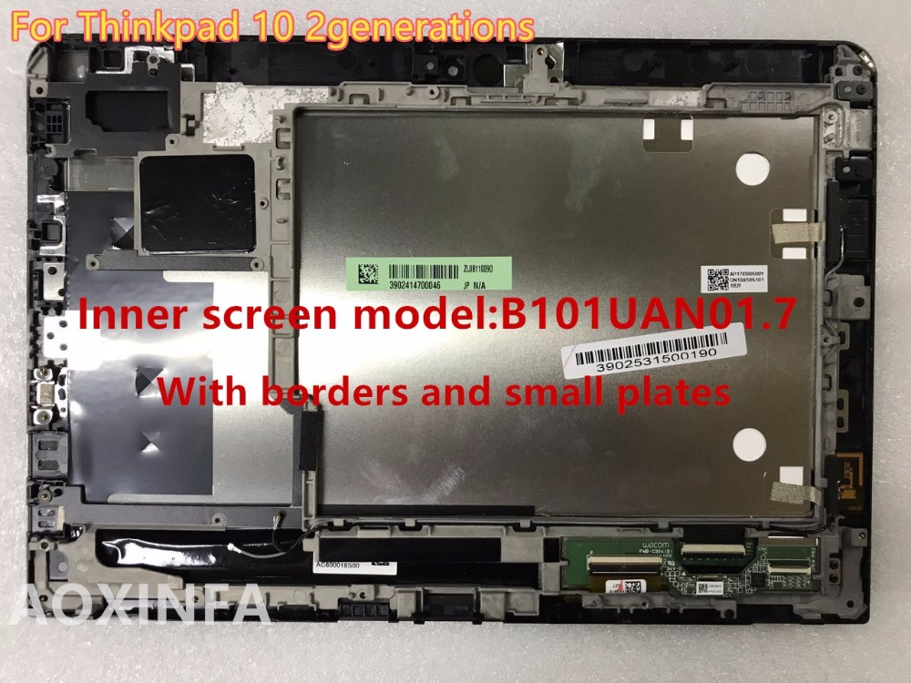 Free Shipping original For Lenovo Thinkpad 10 LCD 2 generation screen assembly LCD B101UAN01.7 frame + small board free shipping tracking no tools 100% tested for lg optimus g3 mini d722 d724 d728 lcd screen assembly frame white grey