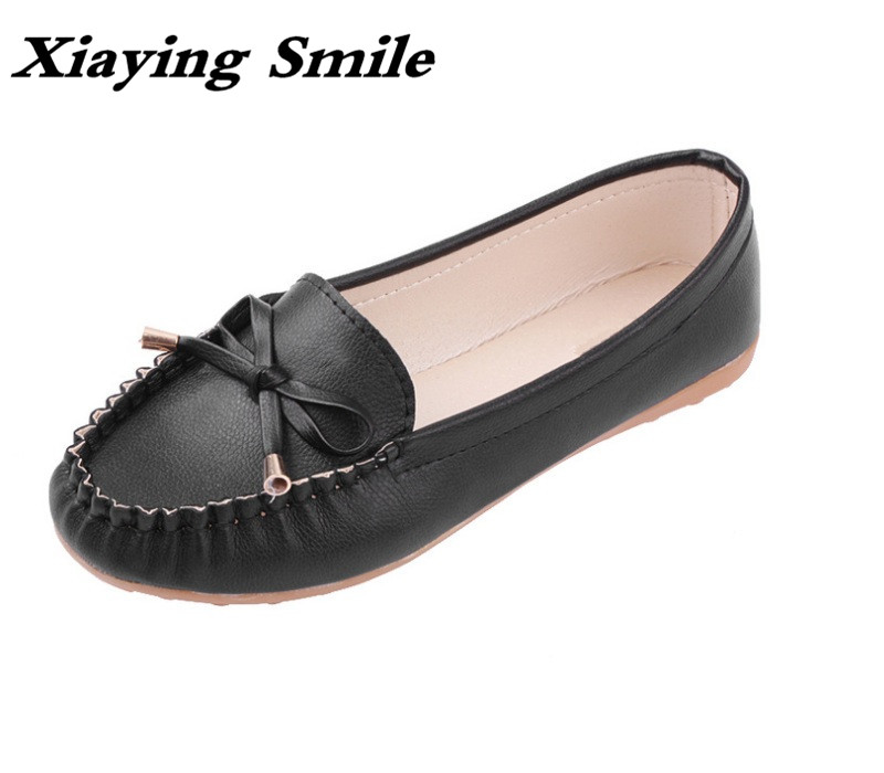 Xiaying Smile Women Flats Loafers Shoes Spring Summer Sweet Candy Colors Fashion Casual Bowtie Shallow Round Toe Women Shoes plus size 34 41 black khaki lace bow flats shoes for womens ds219 fashion round toe bowtie sweet spring summer fall flats shoes