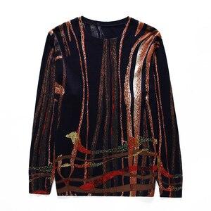 Image 5 - YISU נשים סוודר 2019 אופנה אביב סתיו סוודרים חמים סוודר פס מודפס סוודרים נקבה סוודרים סרוגים נשי