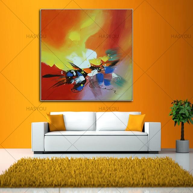 Beste Neue 100% Handgemachte Ölgemälde Auf Leinwand Bunte Landschaft  Ölgemälde Moderne Leinwand Wandkunst Wohnzimmer Decor