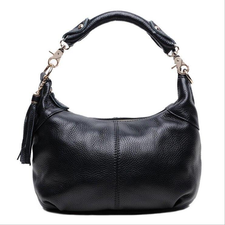 Flug katze 2018 Fashion women genuine leather handbags cowhide Bucket Bag Drawstring Shoulder Crossbody Bag with Logo bucket bag with drawstring inner pouch