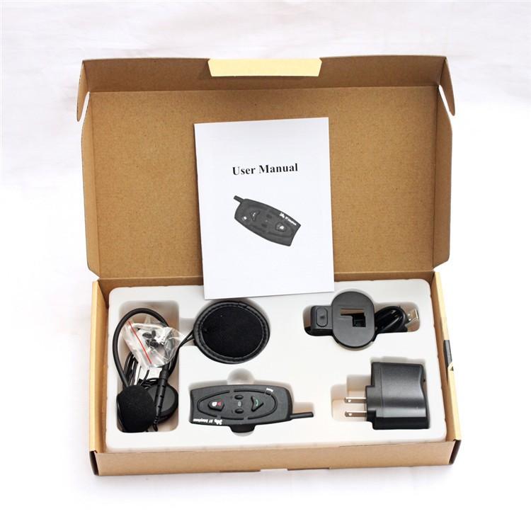 500M Wireless Bluetooth Motorcycle Helmet Intercom for 2 Riders Interphone Earphone Headset 1PcsSet (21)