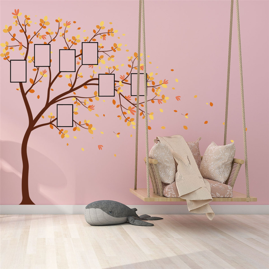 Image 3 - Family Photo DIY Photo Tree Mobile Creative Wall Affixed With Decorative Wall Stickers Window DecorRoom Bedroom Decals Posters-in Wall Stickers from Home & Garden