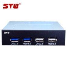 STW usb3.0 front panel computer case floppy drive bit 20pin usb3.0 SUB 2.0 hub