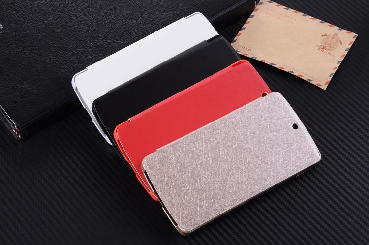 imágenes para Google Nexus 5 caso Oficial Cubierta Rápida Flip funda de piel de seda de Oro Rojo Blanco Negro colores paquete Al Por Menor
