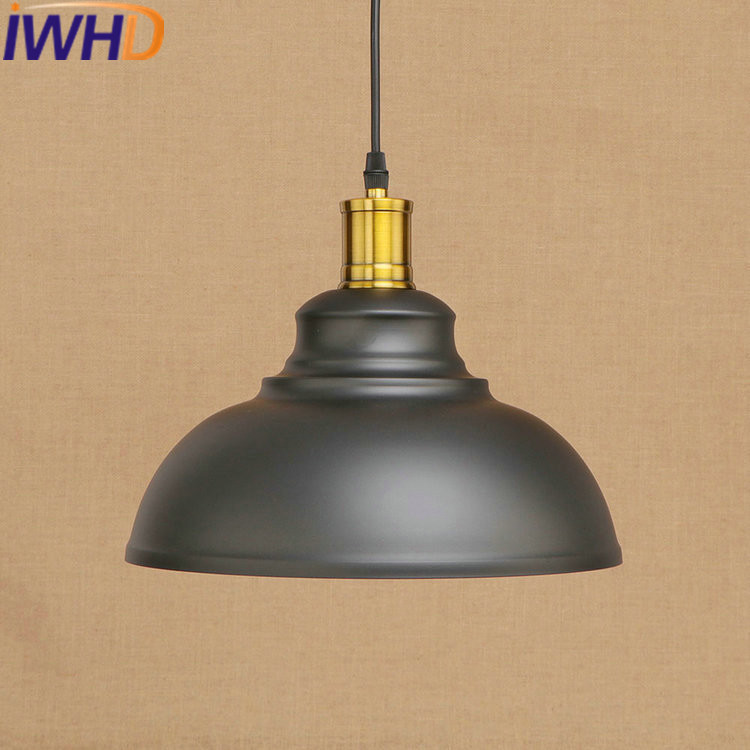 IWHD Vintage Retro Lamp Loft Industrial Hanging Lights Bedroom Restaurant Iron Pendant Lamps Lighting Fixtures Indoor Lamparas nordic resin retro loft style industrial lighting vintage pendant lamp fixtures dinning room led hanging light lamparas