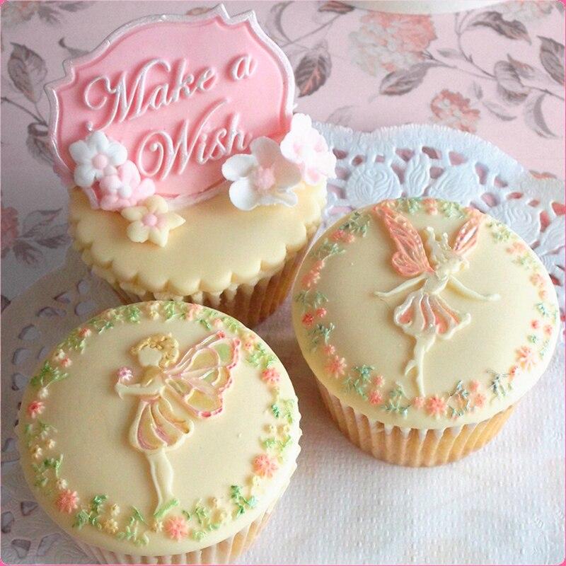 Nástroje na dorty na zdobení dortů Pohádkové přání silueta Topper Silikonová forma Fondantová čokoláda Gumpaste Designová forma na svatbu SM101