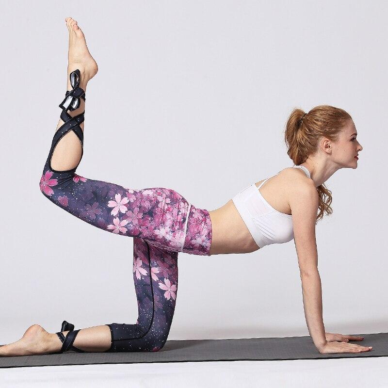 Yoga Pants Leggings sport fitness Women Running Sports Activewear Bandage Tie Legging Female Plus Size leginsy sportowe damskie