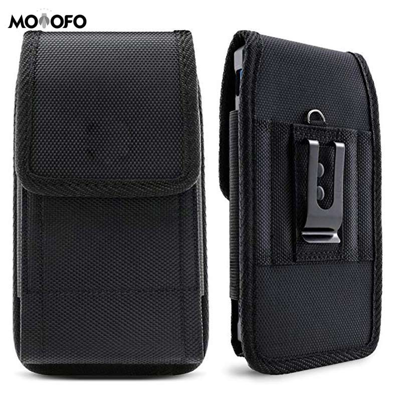 Black Leather <font><b>Belt</b></font> Holster Pouch Clip Fits Galaxy J7, Galaxy S7/ S6/ S5 Active, LG K20 Plus LG Stylo 3 HTC U11 T-Mobile REVVL image
