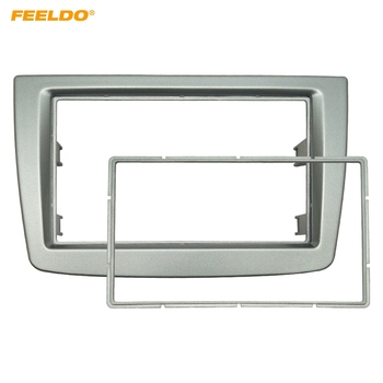 FEELDO Car 2DIN Stereo Radio Fascia Plate Panel Frame For Alfa Romeo MiTo 2008 CD/DVD Radio Panel Dash Installation Dash #AM5248