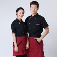 Cooking Suit Short Sleeved Summer Men And Women Kitchen Western Restaurant Canteen Cake Shop Hotel Chef