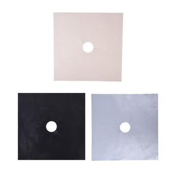 4Pcs Reusable Non-stick Foil Gas Range Stovetop Burner Cooker Protector Liner Cover Clean Mat Pad For Cleaning Kitchen Tool 10