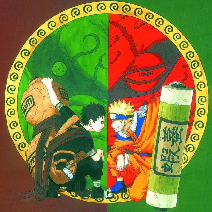 Naruto Shippuden Anime Uzumaki & Gaara 45*45CM Square Pillow Case PillowCases #22655