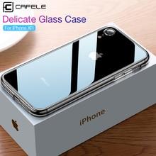 CAFELE чехол для телефона из закаленного стекла для iPhone Xr Xs Max 11 Pro Max, мягкий прозрачный чехол для iPhone 11 pro max