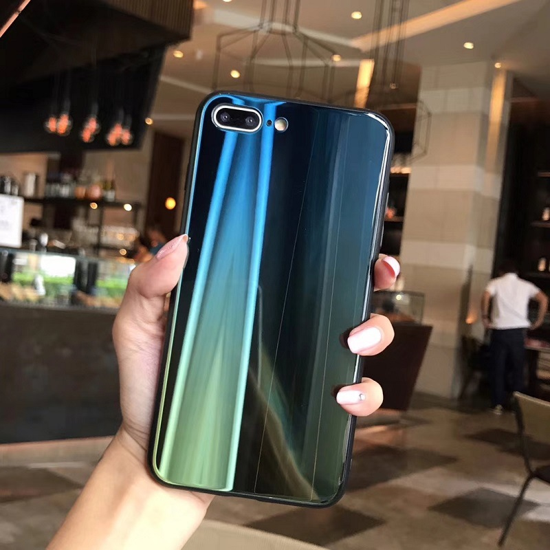 Case For iPhone X 7 8 Plus 6S Cover Laser Aurora Gradient (5)