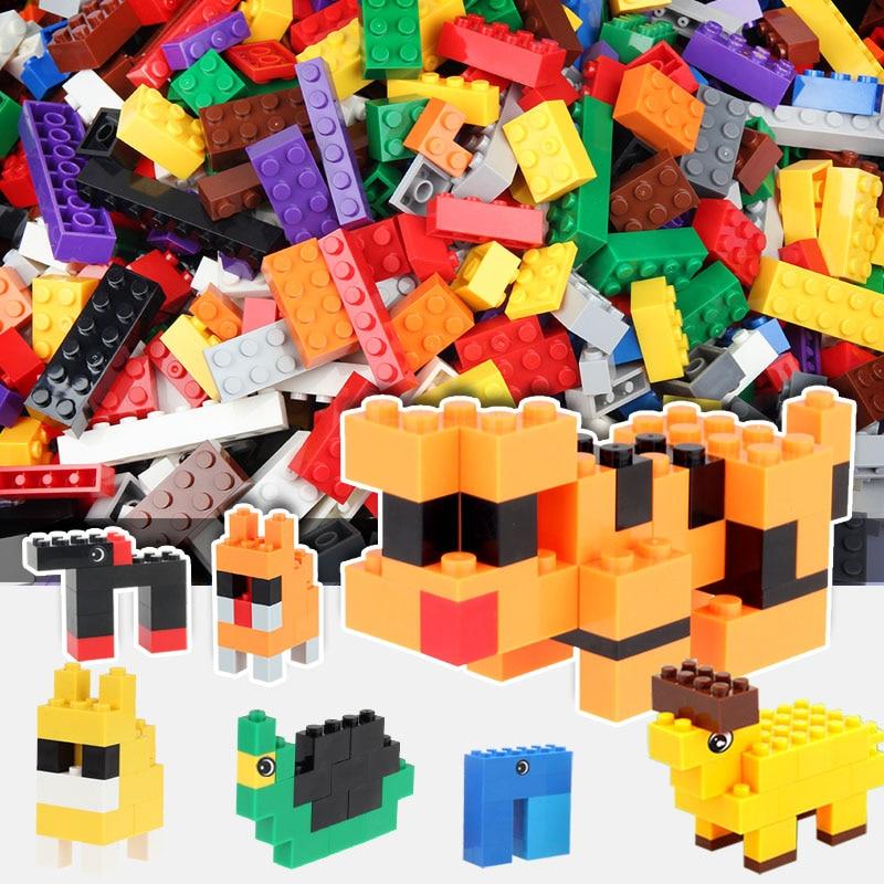 1000/500 PCS Building Blocks Bricks Set Creator City DIY Creative Toys Educational Bulk Bricks Compatible With Most Block [bainily]1000pcs building blocks city diy creative bricks educational building block toys for child compatible with legoe bricks