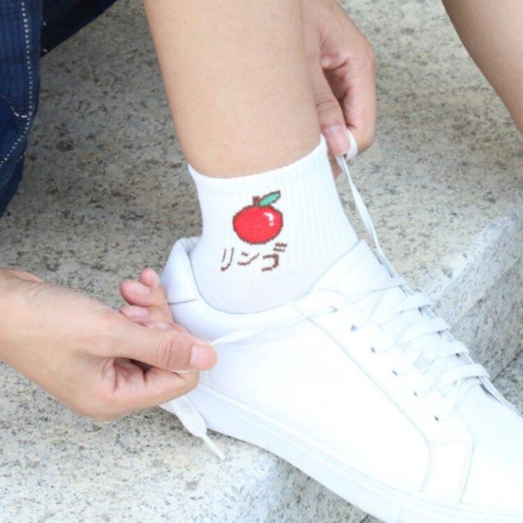 12 Pairs Cute Fruit Short Ankle Socks Women Strawberry Banana Peach Pineapple Watermelon Colorful Cotton Sock Women Funny Socks