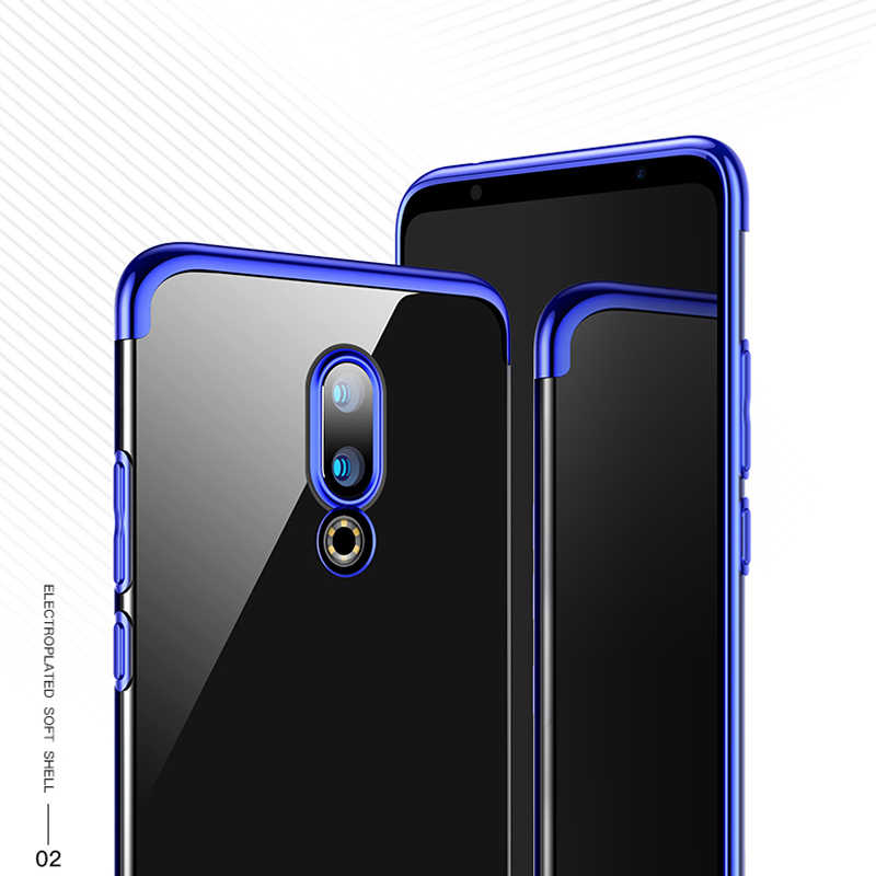 Meizu16 16th Plating Soft Case voor Meizu 16 Plus 16th 16X Helder Transparant Case antiklopmiddelen Cover voor mei zu16 th Shell Caphina
