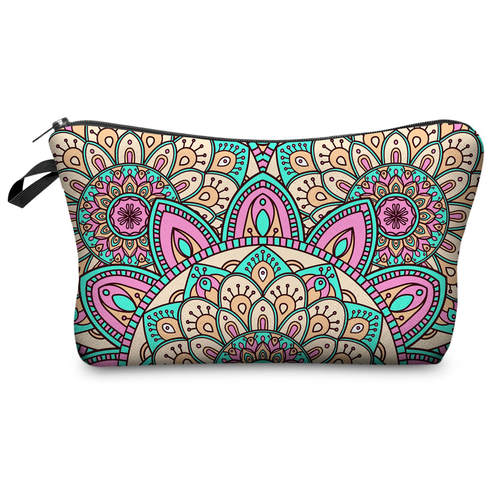 Jom Tokoy New Fashion Makeup bag Heat Transfer Printing Women Flowers Fashion Brand Travel Cosmetic Bags kosmetyczka