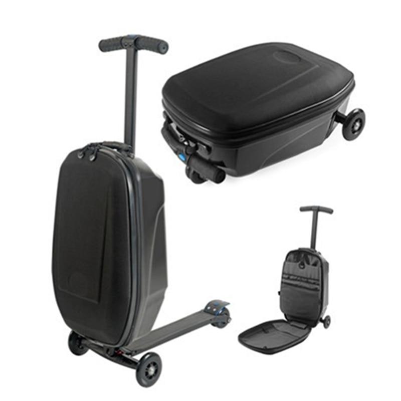 Letrend affaires Skateboard roulant bagages Spinner étudiants Oxford Trolley valises roue voyage sacs pochette d'ordinateur