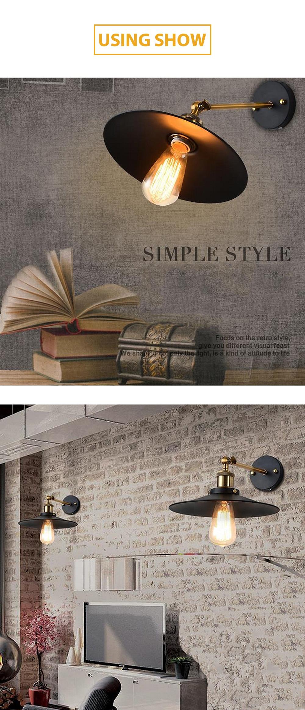 Led Vintage Ascelina El Loft Hogar Lámpara De Industrial Pared Para 3jLq54RcA